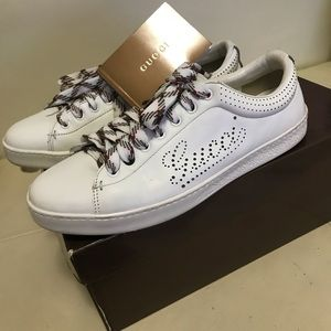 Gucci Shoes - Gucci Authentic Men White Sneakers Size 8.5G
